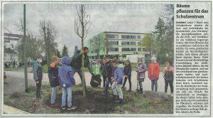 Bäume pflanzen Grundschule Am Weinberg | Ferchland Garten- und Landschaftsbau GmbH
